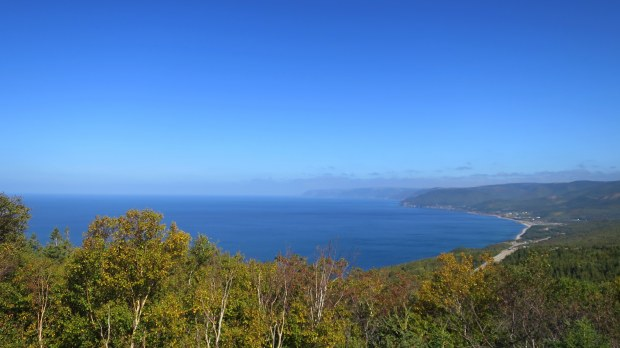 Overlooking Pleasant Cove, Cape Breton Highlands National Park, Nova Scotia, Canada