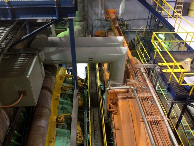 Turbine and power control room at Annapolis Royal Tidal Power Station, Annapolis Royal, Nova Scotia, Canada