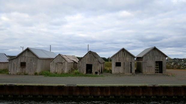 Fish sheds, Gaspereaux Wharf, Prince Edward Island, Canada