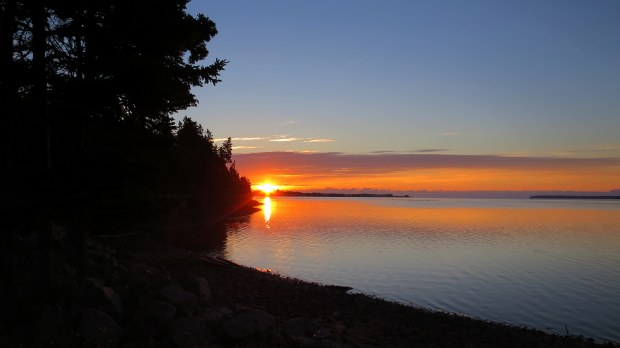 Sunrise from my camping spot, Prince Edward Island, Canada