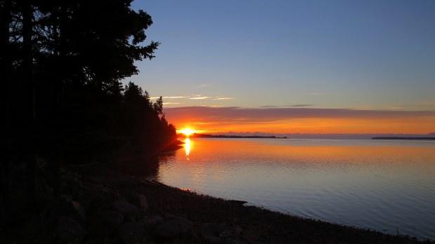 Sunrise from my camping spot, Prince Edward Island, Canada