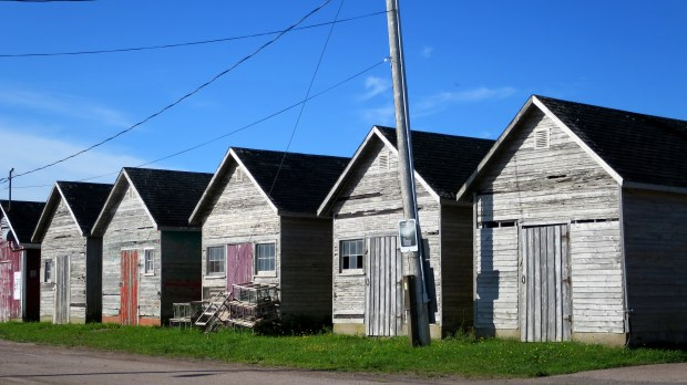 Fish sheds, unknown harbor, Prince Edward Island, Canada