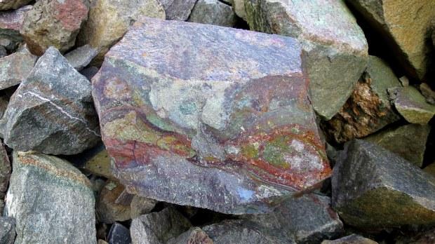 Of course I found rocks, High Cliff Cove Trail, Digby Neck, Nova Scotia, Canada