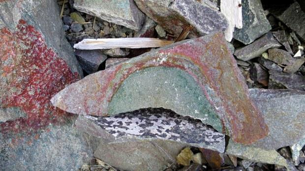 Rocks, High Cliff Cove Trail, Digby Neck, Nova Scotia, Canada