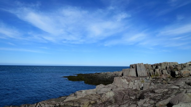 Basalt at Prim Point Lightstation, Digby, Nova Scotia, Canada
