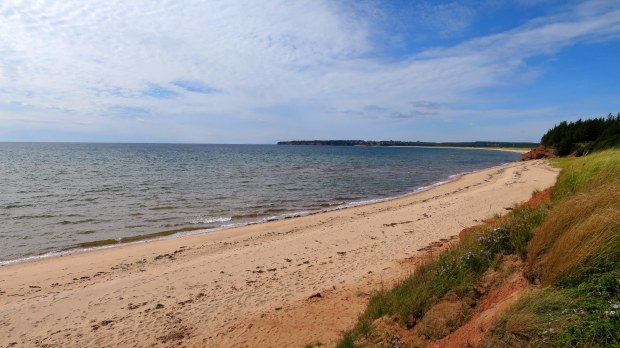 Red Point Provincial Park, Prince Edward Island, Canada (the first place that I didn't encounter red sand)