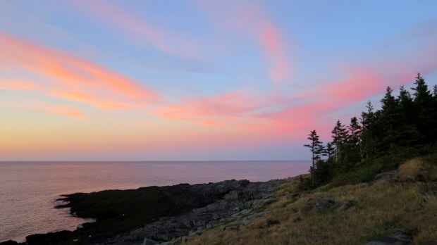 Pink reflection to the east, Prim Point Lightstation, Digby, Nova Scotia, Canada