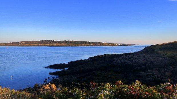 View across Grand Passage to Long Island, Brier Island, Nova Scotia, Canada