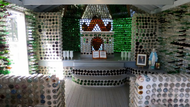 Altar in Bottle Chapel, Prince Edward Island, Canada