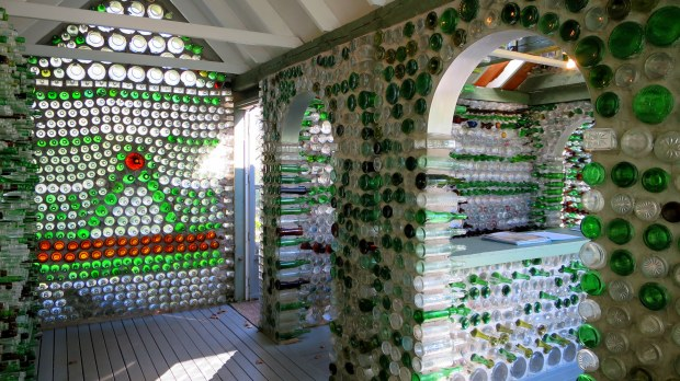 Interior of bottle house, Prince Edward Island, Canada