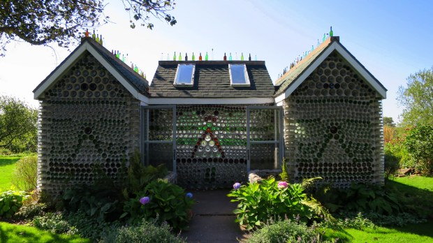 Bottle house, Prince Edward Island, Canada