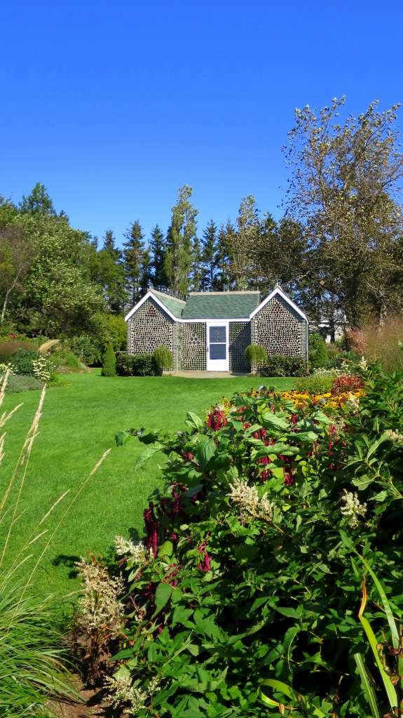 Bottle house amidst the garden, Prince Edward Island, Canada