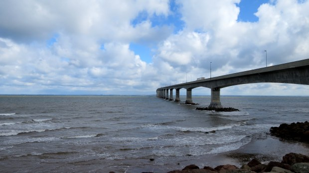 Confederation Bridge from Gunning Trail, Cape Jourimain National Wildlife Refuge, New Brunswick, Canada