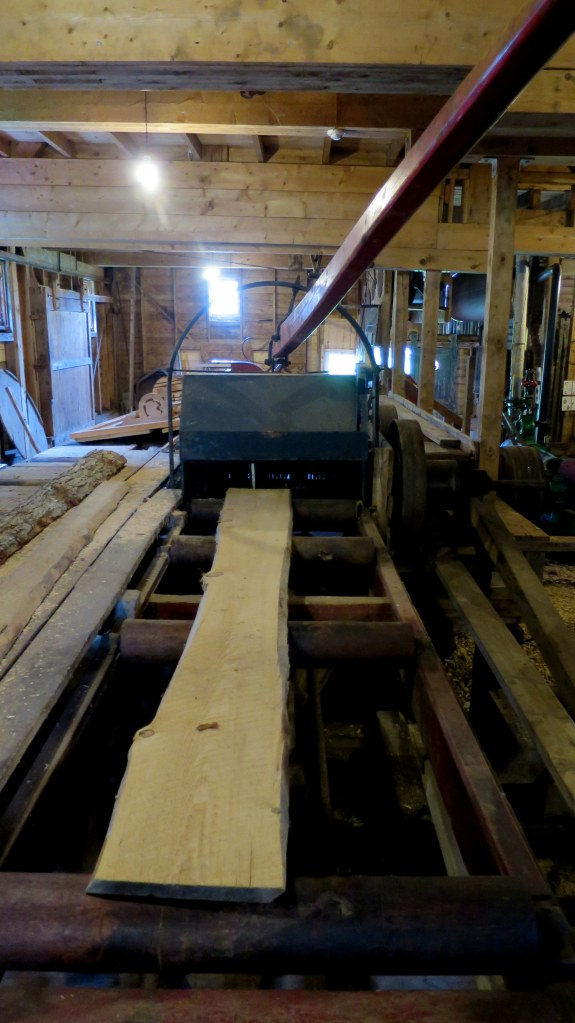 Gang saw that would cut planks, Sutherland Steam Mill Museum, Denmark, Nova Scotia, Canada