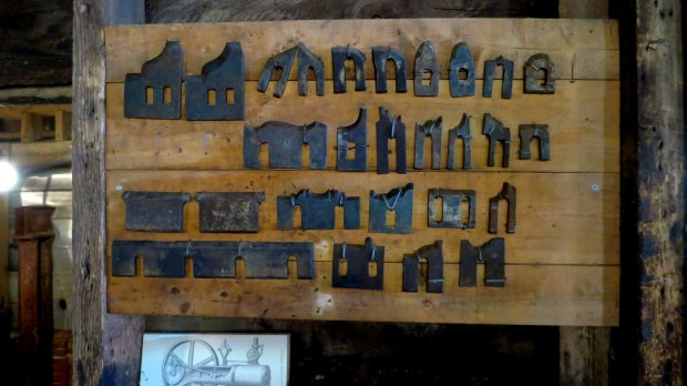 "Removable ""knives"" for planar, Sutherland Steam Mill Museum, Denmark, Nova Scotia, Canada"
