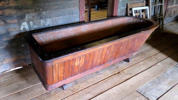 Bathtub, Sutherland Steam Mill Museum, Denmark, Nova Scotia, Canada