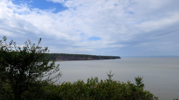 View from walking trail at Walton Lighthouse, Walton Harbour, Nova Scotia, Canada