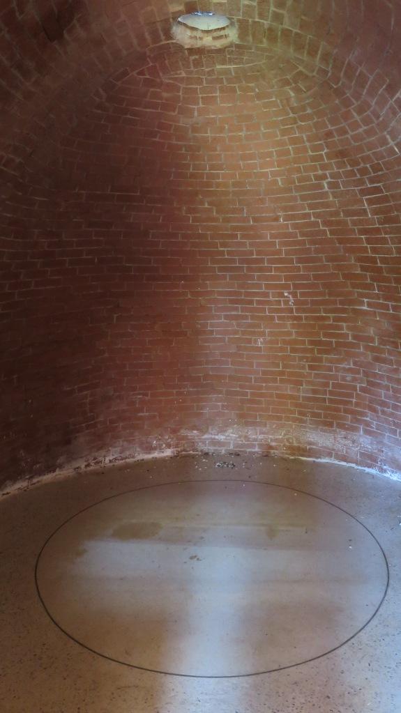 View of interior chamber with door open, camera obscura, Cheverie, Nova Scotia, Canada
