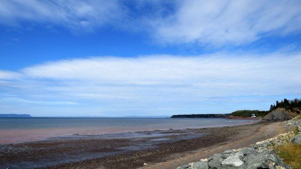 Bay of Fundy near camera obscura, Cheverie, Nova Scotia, Canada
