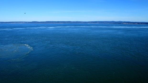 View across Minas Basin, Cape Split Trail, Cape Split Provincial Park, Nova Scotia, Canada