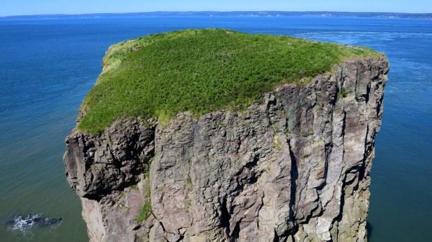Sea stack, Cape Split Provincial Park, Nova Scotia, Canada