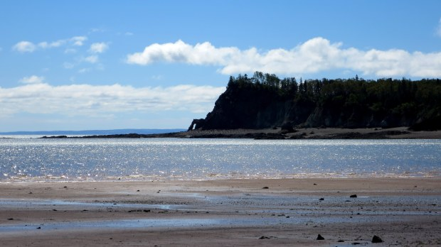 View from beach, Wasson Bluff, Parrsboro, Nova Scotia, Canada
