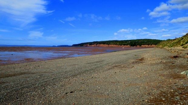 View of Five Islands in the Minas Basin, Five Islands Lighthouse Park, Nova Scotia, Canada