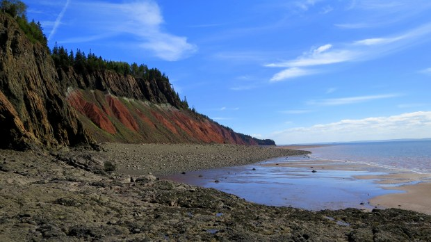 Red Cliffs from next to The Old Wife, Five Islands Provincial Park, Nova Scotia, Canada