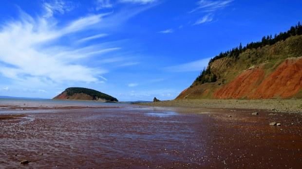 Past the Red Cliffs, Five Islands Provincial Park, Nova Scotia, Canada