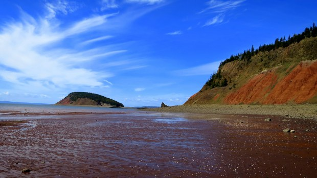 Past the Red Cliffs, Five Islands Provincial Park, Nova Scotia, Canada