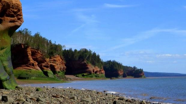 Looking past Red Head, Five Islands Provincial Park, Nova Scotia, Canada
