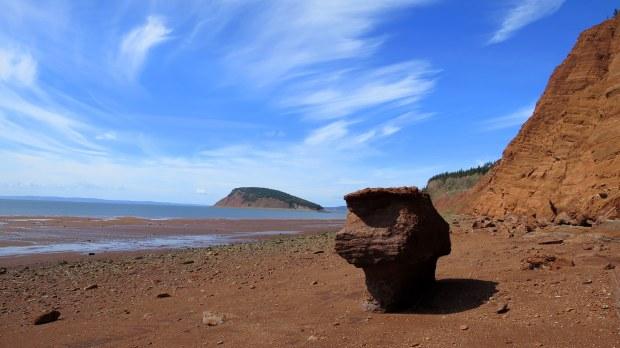 Headed back along the beach, Five Islands Provincial Park, Nova Scotia, Canada