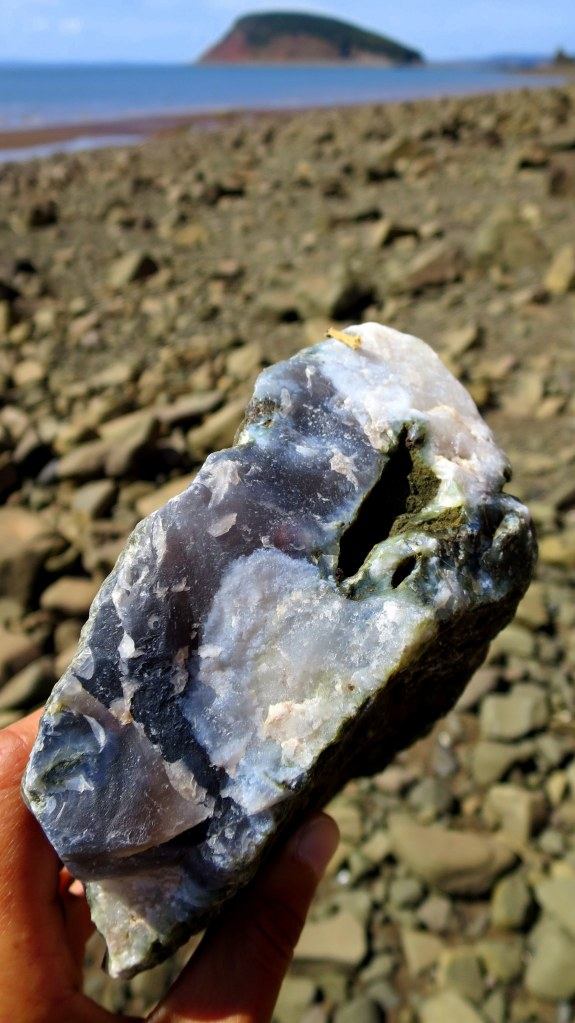 Chunk o' quartz, Five Islands Provincial Park, Nova Scotia, Canada