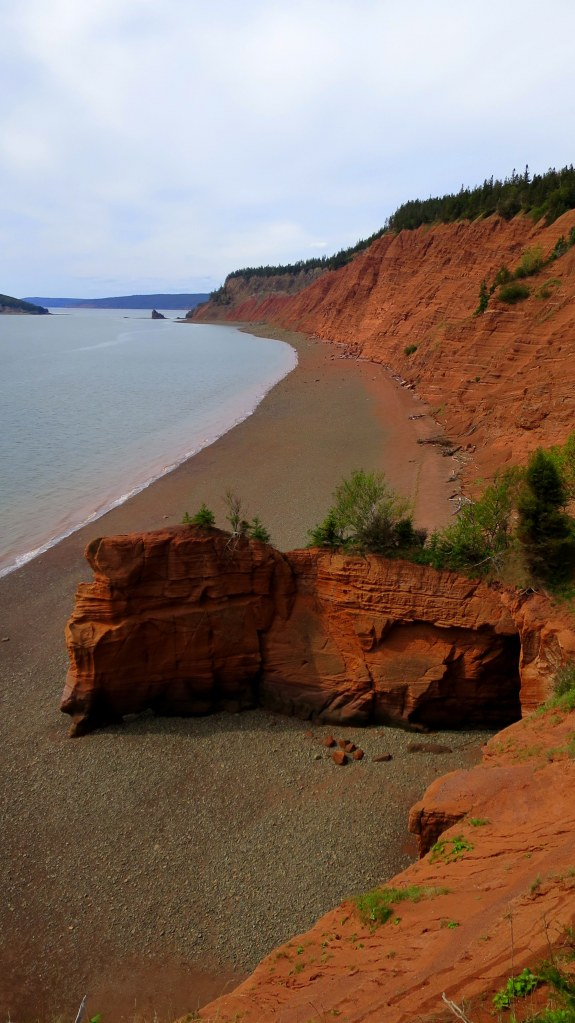 View of the beach and the Red Cliffs from Red Head, Five Islands Provincial Park, Nova Scotia, Canada