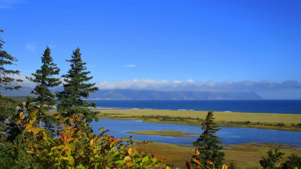Look off onto Dingwall Bay, Cape Breton Island, Nova Scotia, Canada