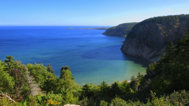 Northeast coast of Cape Breton Island, Nova Scotia, Canada