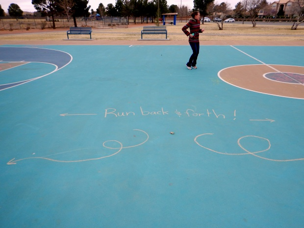 Chrissy's message pointing out a fundamental aspect of basketball and hopefully securing a smile, El Paso, Texas