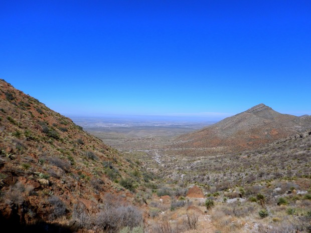 From the mouth of the cave, Aztec Caves Trail, Franklin Mountains State Park, El Paso, Texas