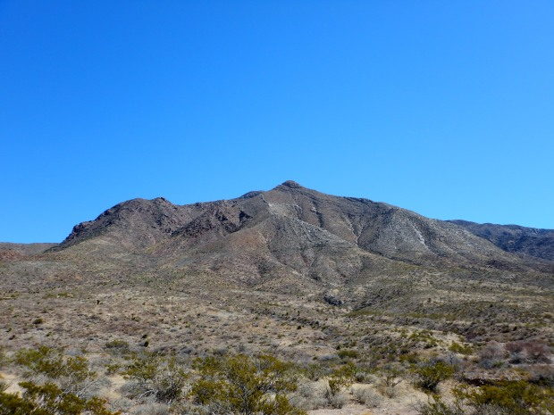 Mountains seen from Lower Sunset Trail, Franklin Mountains State Park, El Paso, Texas