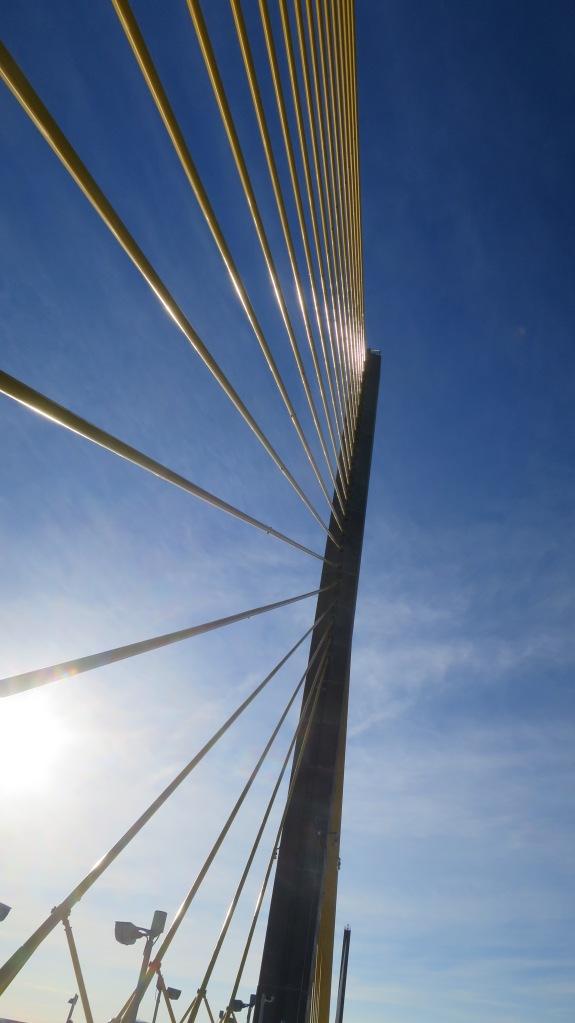 Driving over Sunshine Skyway Bridge, Florida
