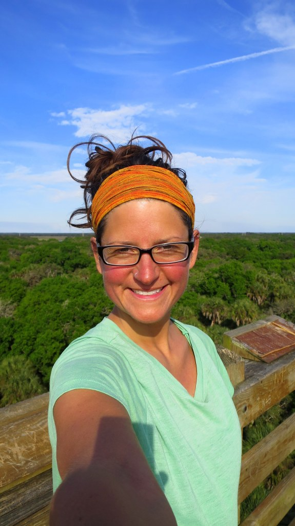 Me on observation tower, Myakka River State Park, Florida