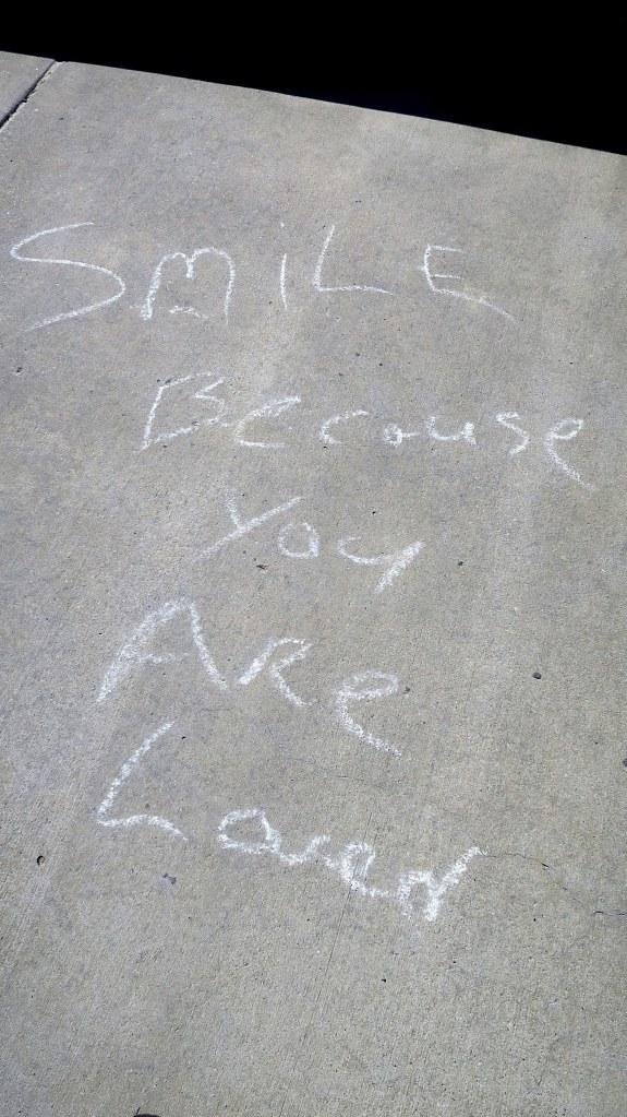 Sidewalk art, Ocean Springs, Mississippi