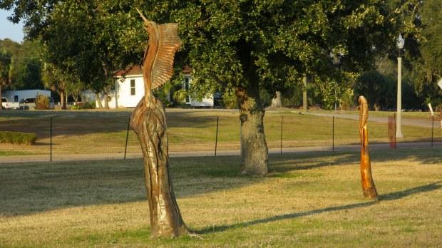 Wood sculptures, Highway 90, Biloxi, Mississippi