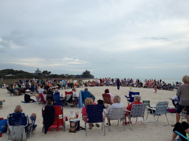 Drum circle on Nokomis Beach, Florida