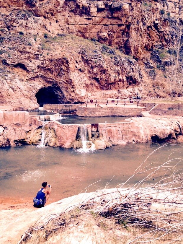 Me taking pictures at Pah Tempe Springs, Hurricane Canal Trail, Virgin River Canyon, Utah