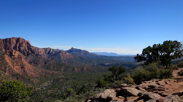 Approaching the end, Timber Creek Overlook Trail, Kolob Canyon, Zion National Park, Utah