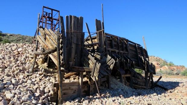 Abandoned mine, Silver Reef, Utah