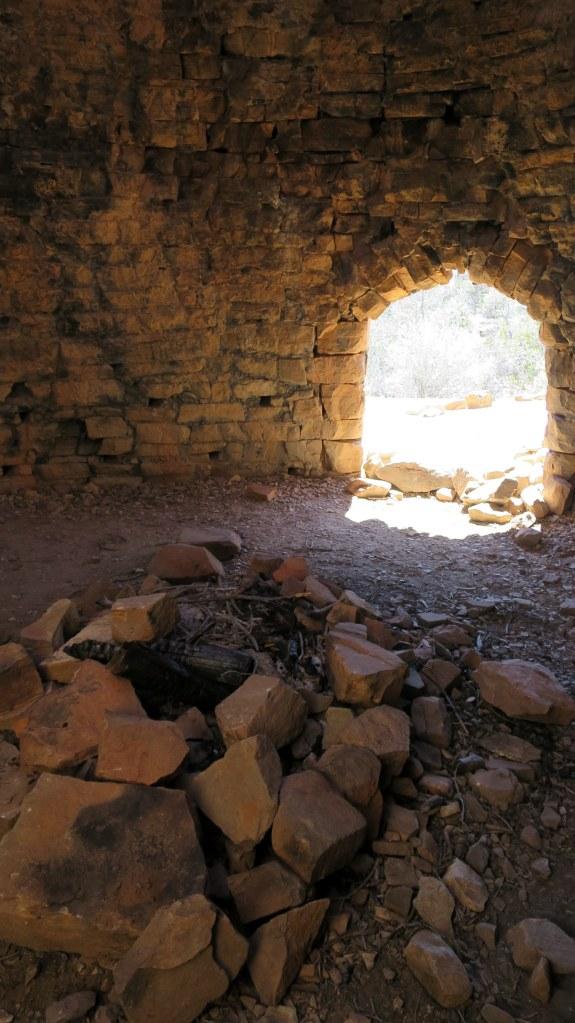 Inside the charcoal kiln, Leeds Creek Kiln Trail, Dixie National Forest, Utah