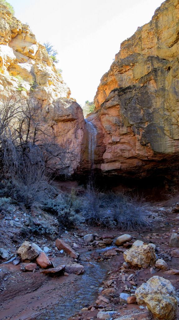 Approaching the waterfall, Camp Creek, Zion National Park, Utah