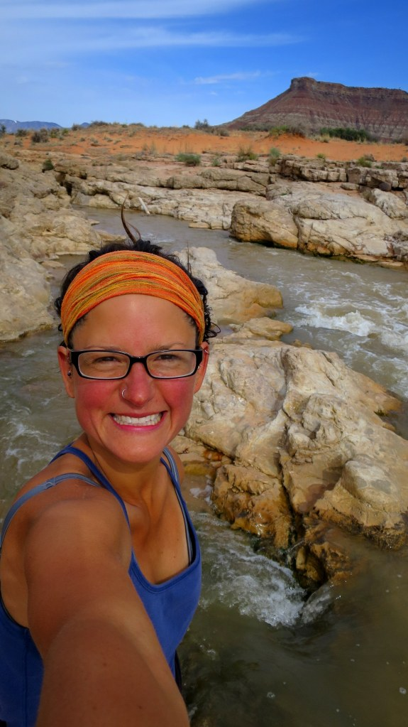 My happy face, Virgin River Falls Park, Utah